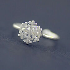 Charm Rings For Women Girls Jewelry Fashion Snowflake Ring 925 Silver Snow Open