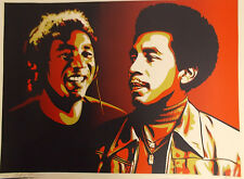 SIGNED SMOKEY ROBINSON PRINT Obey SHEPARD FAIREY Era 10 Signed By Both #192/450