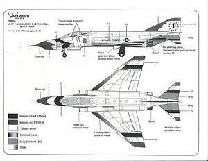 Warbird USAF Thunderbirds, 1972-73 Team, F-4E Phantom II Decals 1/72 005