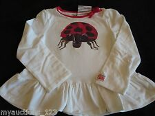 NWT Gymboree The World of Eric Carle The Grouchy Ladybug Ruffle Top Shirt 3 3T