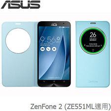 Asus Original ZenFone 2 ZE551ML NFC View Flip Cover Deluxe Smartphone Case Blue