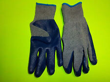 BLUEHAWK LATEX COATED RUBBER PALM WORK GLOVES LARGE GREAT FOR SHUCKING OYSTERS