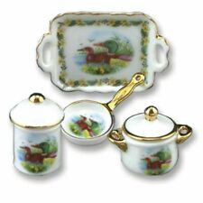 Wild Duck Serving Set - 4pc Reutter Porcelain 1:12 Scale Made in Germany