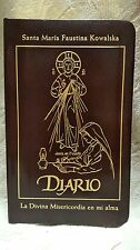Diario La Divina Misericordia en mi alma St Maria Faustina Burgundy Leather