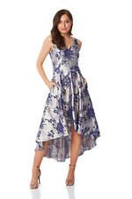 Roman Originals Women Floral Jacquard Gown Dress