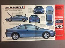"1997 > Peugeot 406 Coupe IMP ""Hot Cars"" Spec Sheet Folder Brochure #1-7"