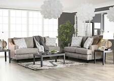 NEW Gray Chenille Fabric Living Room Furniture - 2 piece Sofa Couch Set IGE4