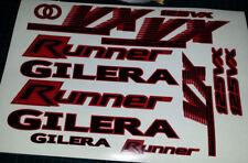 GILERA Runner VX 125 STICKER/DECAL SET * rojo y negro * 4 tiempos St VXR