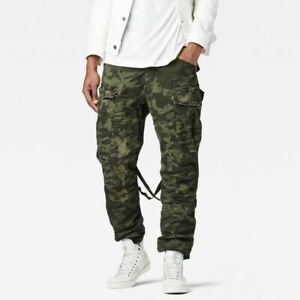 G STAR ROVIC LOOSE STRAPPED KHAKI CAMO TROUSERS SIZE 31 X 32 NEW WITH TAG