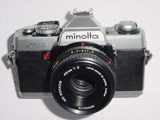 Minolta XG 1 35mm SLR Film Manual Camera w/ Minolta 45/2 MD ROKKOR Pancake Lens