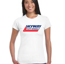 Skyway Tuff Wheels - Womens Retro Bmx T-Shirt Cycling Bandit Bike Mongoose Mtb