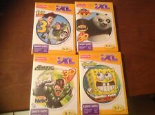 NEW FISHER PRICE iXL-Lot of 4 LEARNING GAMES-Kung fu,Toy Story, SpongeBob, Green
