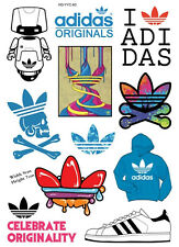 Adidas Skateboard Luggage Case Fridge Guitar Bike Stickers 11pcs
