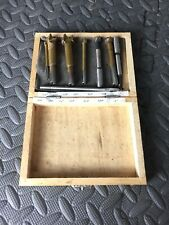 Assorted Drill Bit Set Comes In Wooden Case Lot Of 8 Bits