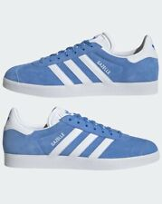 """MENS ADIDAS ORIGINALS GAZELLE SUEDE TRAINERS UK SIZE 8.5 """"REAL BLUE / WHITE"""""""