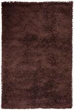 Einfarbige Wohnraum-Teppiche im Hochflor -/Shaggy -/Flokati-Stil aus 100% Wolle