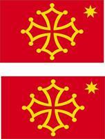 2x Adhesivo adesivi pegatina sticker vinilo bandera vinyl moto coche occitano