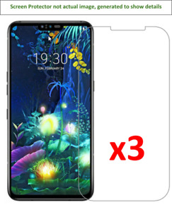 3x LG V50 ThinQ Anti-Scratch Screen Protector w/ cloth