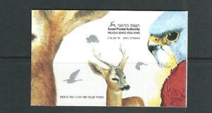 Israël 2001 Livret Wwf Pour Nature (Largeur / O Emblème) Pipistrelle,Kestrel MNH
