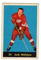1X JACK MCINTYRE 1960 61 Parkhurst #24 VG+ Detroit Red Wings