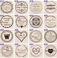 "custom name self inking business family company return address round stamp 1.5"""