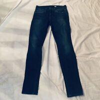 Joes Jeans The Skinny Mid Rise Jeans Elsie Wash Distress SZ 27 Stretch Blue Jean