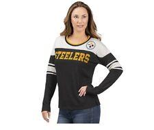 Pittsburgh Steelers Interception Women's Long Sleeve Shirt- GIII