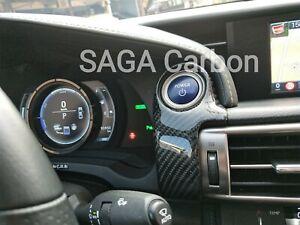 Fits Lexus RC RCF 2013~17 Real CARBON FIBERPush Start Button Overlay Cap LHD