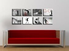 TIME4ART BANKSY CANVAS LOVE DOCTOR HOPE PRINT GICLEE SET 8 PCS 16''x12'' inch