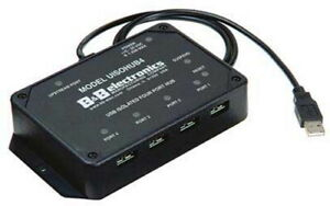 B&B Electronics USB Optically Isolated Four 4-Port Hub w/ Power Supply UISOHUB4