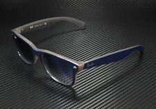 RAY BAN New Wayfarer RB2132 63083F Matt Blue Opal Brown Clr Grad 58mm Sunglasses