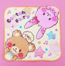 KAWAII JAPONAIS polaire Façade Serviette Mignon pastel lapin & ours rose fée Kei