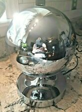 VTG 70's FANTASIA  CHROME Sphere Fiber Optic Rotating Color Lamp