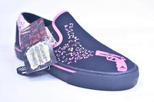 T.U.K. A7086 PINK MUSIC NOTES FROM BARREL OF A GUN CANVAS SNEAKERS NWD  5/7 TUK