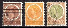 Dutch Indies - 1908 Definitives Wilhelmina - Mi. 58-60 FU