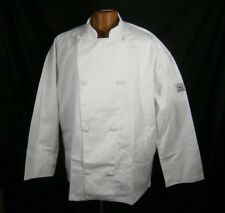 "CHEF REVIVAL COAT LONG SLEEVE COOKING JACKET WHITE KNIFE & STEEL J001 XL 48""-50"""