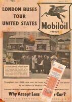 MobilOil Vintage Garage Advertising Sign Classic Shed Plaque Buses Motor ManCave
