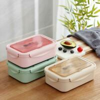 Kid Adult Lunch Box Food Container Wheat Straw Microwave Boxes N E Bento I4N4