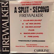 A SPLIT-SECOND - FIREWALKER - SINGLE TRACK - LIKE NEW - G275