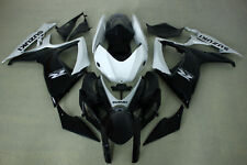 ABS Fairing Kits fit for Suzuki gsxr600/750 06-07 2006 2007 white and black colo