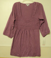 NEW size small Liz Lange for Target maternity SWEATER mauve S