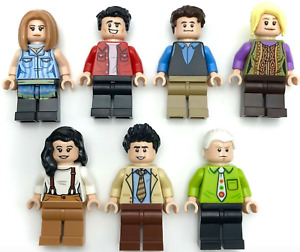 LEGO NEW ALL 7 F·R·I·E·N·D·S SHOW MINIFIGURES FROM CENTRAL PERK 21319 SET