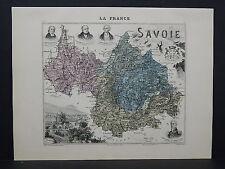 French Department Maps, Antique 1887 Savoie #24