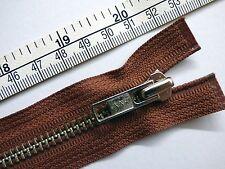 Zip, Zipper, Standard Puller, Open End, Metal,YKK,Black 51cm/20inch, Strong