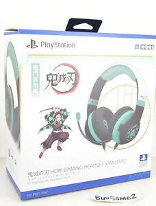 NEW PS5/ PS4/ PC Demon Slayer Standard Gaming Headphones GREEN (Tanjirou, HORI)