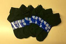 Girls Hunter Green Uniform Knit Cotton Lot Of 6 Turn Cuff Ankle Sock Sz. 8-9 New
