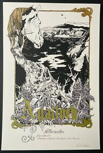 Agalloch West Coast Tour 2010 Poster Signed Numbered David D'Andrea AE Run of 60