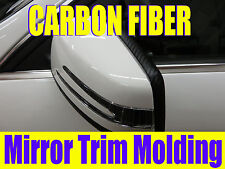 3D Black CARBON FIBER Side Mirror TRIM MOLDING DIY KIT -cfchrysler02