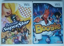 BOOGIE + BOOGIE SUPERSTAR (Wii SINGING + DANCING BUNDLE) GAMES ONLY -NO MIC =VGC