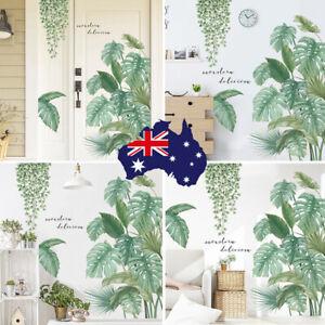 Wall Stickers Green Tropical Leaves Plant Foliage Vinyl Nursery Decor Art Mural